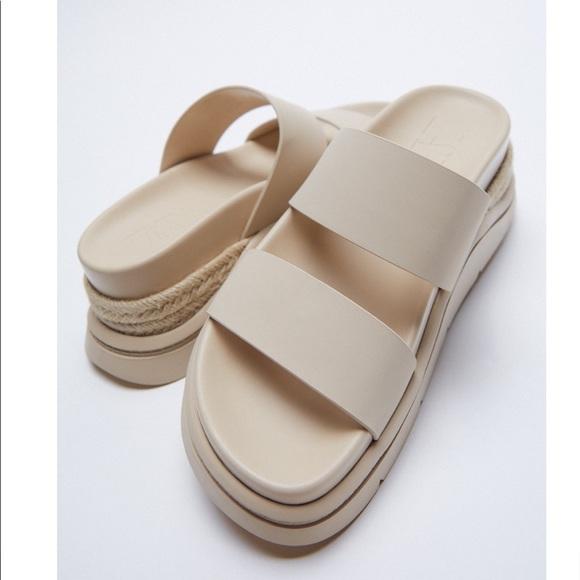 Rubberized low heel sandals